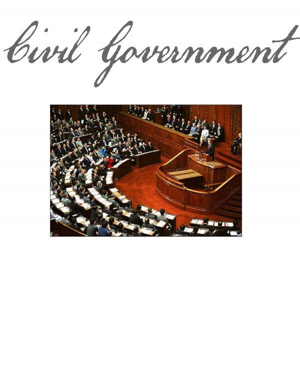 Civil Govt Title Page