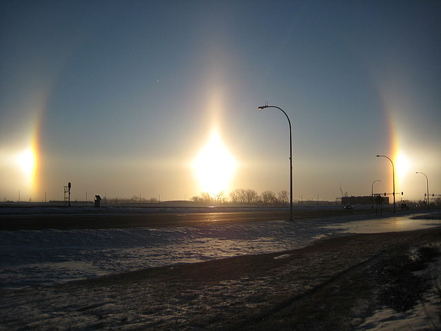 """Fargo Sundogs 2 18 09"" by Gopherboy6956 - Own work. Licensed under Public Domain via Wikimedia Commons - http://commons.wikimedia.org/wiki/File:Fargo_Sundogs_2_18_09.jpg#mediaviewer/File:Fargo_Sundogs_2_18_09.jpg"