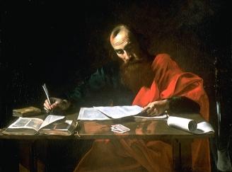 """""""File""""-Saint Paul Writing His Epistles"""" by Valentin de Boulogne"""""""
