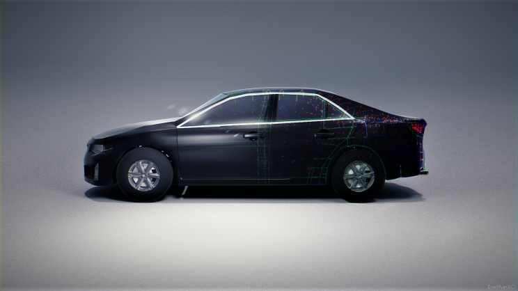 2013 Toyota Camery side_wireframe_composite